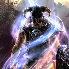 Dovahkiin wchłaniający smoczą wiedzę ze zwiastunu gry The Elder Scrolls V: Skyrim