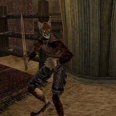Khajiit odmiany Suthay-raht z gry The Elder Scrolls III: Morrowind