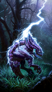 Alternate Lightning Bolt card art