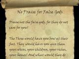 No Praise for False Gods