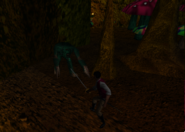 Redguard - The Goblin Caves - Cyrus Facing Troll