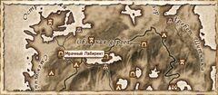 Мрачный Лабиринт. Карта