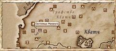 Святилище Малаката. Карта