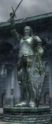 Estatua de Uriel III en el barrio del mercado de la ciudad imperial