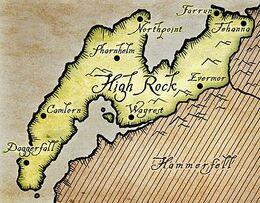 Mapa de High Rock
