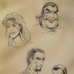 Richton, Iszara, Cyrus i Saban – grafika koncepcyjna