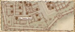 Дом Ундены Орети. Карта