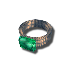 Дорогое зелёное кольцо TESIII