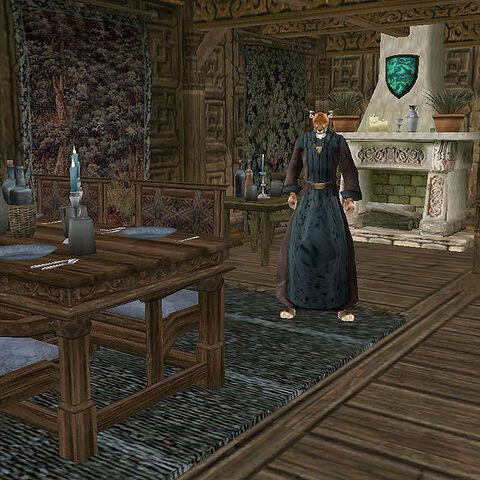 Ahnassi w swoim domu w Pelagiad.