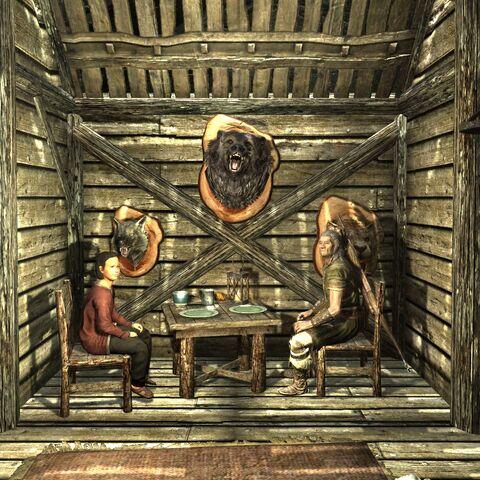Wnętrze chaty Frokiego