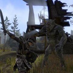 Troll śnieżny z gry The Elder Scrolls Online