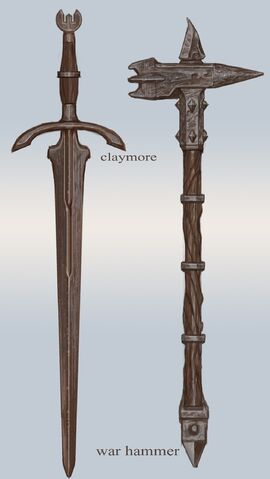 File:Iron Claymore and Warhammer.jpg