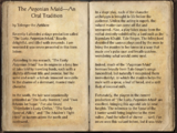 The Argonian Maid—An Oral Tradition