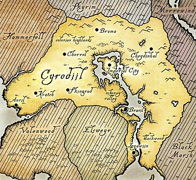 Сиродил карта