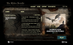 ESO Launcher PTS Elsweyr