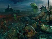 L'esercito Tsaesci in marcia