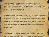 Borzul's Suicide Note