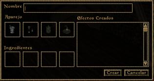 Interfaz alquimia (Morrowind)
