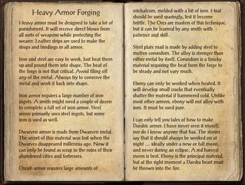 Heavy Armor Forging, as seen in The Elder Scrolls Online