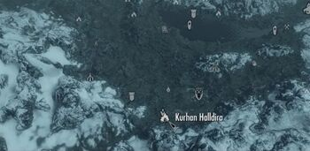 Kurhan Halldira (mapa) (Skyrim)