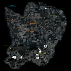 Чёрный Предел - карта Тихого города