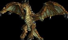 Бронзовый дракон (в полёте)