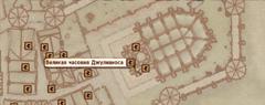Часовня Джулианоса - карта
