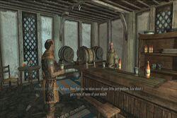 Capitano delle Guardie durante la degustazione