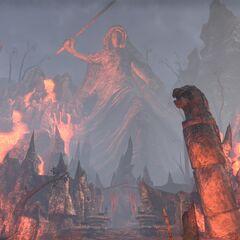 Posąg Boethiah z gry The Elder Scrolls Online