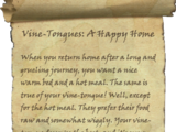 Vine-Tongues: A Happy Home