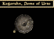 Kogoruhn, Dome of Urso - Interior Map - Morrowind