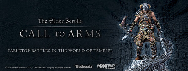 The Elder Scrolls Call to Arms promotional banner