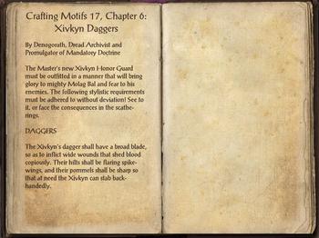 Crafting Motif 17: Xivkyn Style | Elder Scrolls | FANDOM