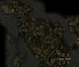 TES3 Morrowind - Bitter Coast - Ilunibi - (cave) location map