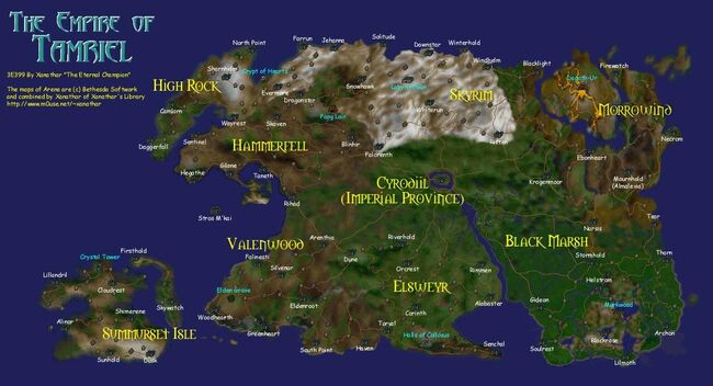 TES Map Tamriel Arena
