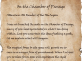 On the Chamber of Passage