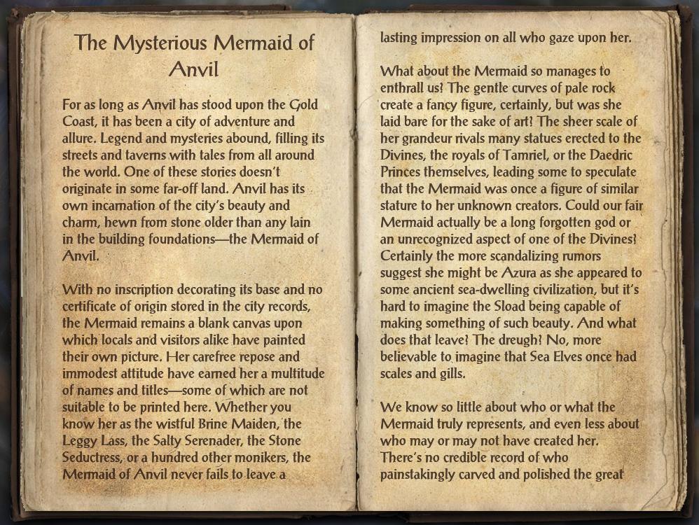 The Mysterious Mermaid of Anvil | Elder Scrolls | FANDOM powered by