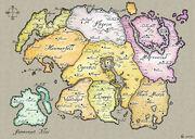 Карта Тамриэля из Путеводителя