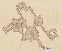 Пещера Низин - план локации