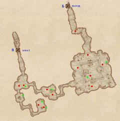 Пещера Хрупкая Скала - Нижние проходы. План