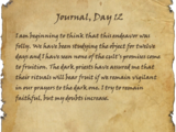 Journal, Day 12