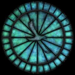 Witraż z symbolem Kynareth z gry The Elder Scrolls IV: Oblivion