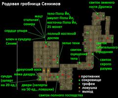 Родовая гробница Сенимов. План