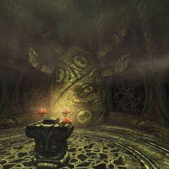 Posąg Hermaeusa Mory z gry The Elder Scrolls V: Dragonborn