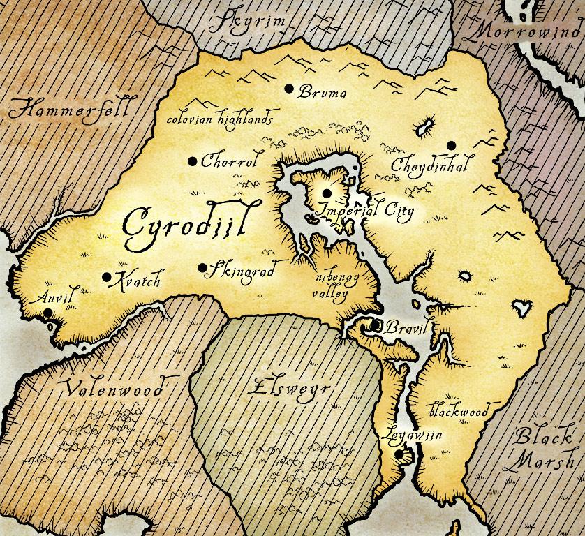 Map Of Cyrodiil Roads | Elder Scrolls | FANDOM powered by Wikia