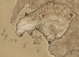 Hammerfell ingame map by tamriel rebuilt