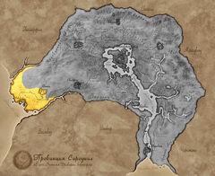 Карта Сиродила - Золотой берег