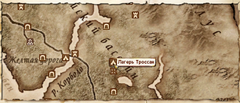 Лагерь Троссан-карта