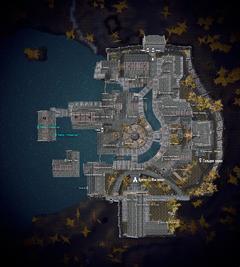 Рыбный порт на карте Рифтена