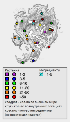 Сердцевина жгута - карта